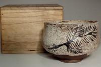 sale: Kato Shuntai 'e-shino chawan' antique tea bowl