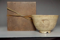 sale: Antique 'aoi mon' kizeto tea bowl