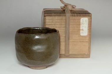 sale: 'Chawan' Antique tamba pottery tea bowl