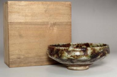 sale:  Antique 'raku chawan' w Raku 10th Tannyu pottery mark