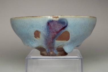 sale: Antique Jun glazed pottery bowl