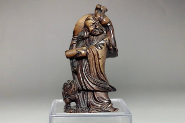 sale: Fine rosewood monk carving Statue