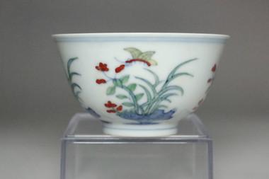 sale: Antique Chinese Docai cup Chenghua porcelain mark