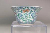 sale: Chinese doucai porcelain cup w Qianlong mark #3288