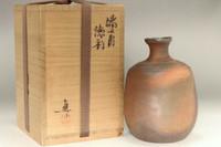 Nakamura Makoto (son of Nakamura Rokuro) Bizen bottle #3335