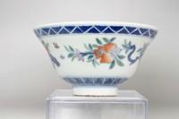 Antique Chinese doucai cup w/ Yongzheng mark #3343