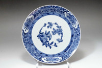 Old imari - Antique Japanese blue and white porcelain plate #3353