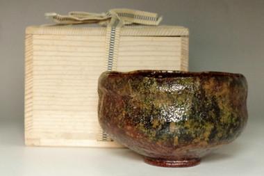 sale:  Kato Sekishun(1870-1943)'tatsuta-nishiki' original glazed tea bowl