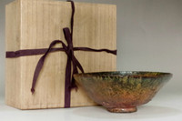 sale: Kato Sekishun (1870-1943) 'tatsuta-nishiki' original glazed tea bowl