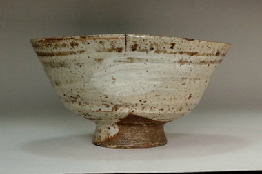 sale: Kato Shuntai (1802-1877) Antique 'hakeme chawan' tea bowl