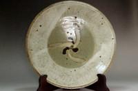 sale: Shimaoka Tatsuzo (1919-2007) 'jomon zogan' inlaid mashiko pottery plate