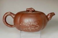 sale: 18c Antique Chinese zisha teapot by Wu Yue Ting