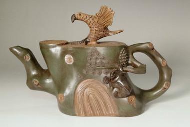 sale: 18c Antique zisha tea pot by Chen Ming Yuan