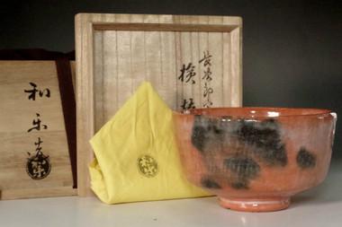 sale: Chojiro 'kengyo utsushi' tea bowl by Kawasaki Waraku