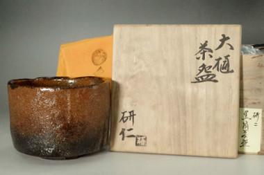 sale: Nakamura Kenji (1950- ) Ohi ware tea bowl