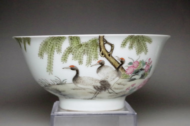 sale: Chinese famille rose bowl w Yongzheng official porcelain mark