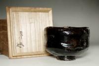 sale: 11th Raku - Keinyu (1817-1902) Kuro-Raku tea bowl