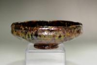 sale: Kato Sekishun (1870-1943) Tatsuta-nishki glazed raku tea bowl
