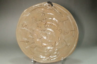 sale: Otagaki Rengetsu (1791-1875) poem carved pottery plate