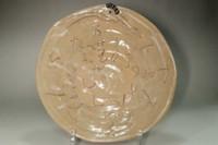 sale: Otagaki Rengetsu (1791-1875) poem carved pottery plate