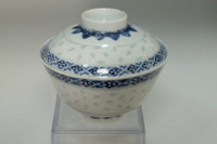 sale: Antique Kangxi marked blue and white covered cup
