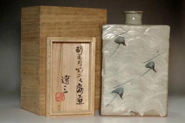 sale: Shimaoka Tatsuzo (1919-2007) Mashiko ware flower vase