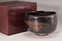 10th Raku - Tannyu (1795-1854) Kuro-raku tea bowl