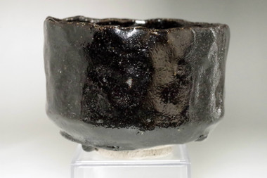 sale: 10th Raku - Tannyu (1795-1854) Kuro-raku tea bowl