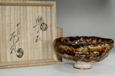 sale: Kato Sekishun (1870-1943) Antique original glazed tea bowl