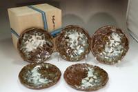 sale: Hamada Shinsaku (1929- ) Set of 5 Mashiko ware plates