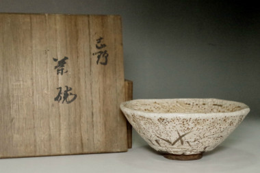 sale: Kato Bakutai (1861-1943) Antique e-shino tea bowl