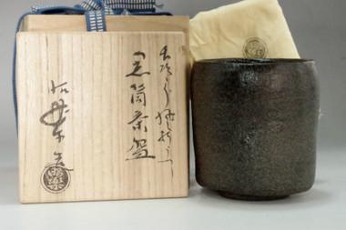 """sale: Raku 1st Chojiro's """"Kazaori"""" style by Sasaki Shoraku"""