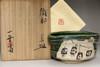 sale: Kato Tokuro (1896-1985) Vintage tea bowl in oribe ware