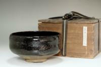 sale: 9th Raku - Ryonyu (1756-1834) Antique kuro-raku tea bowl