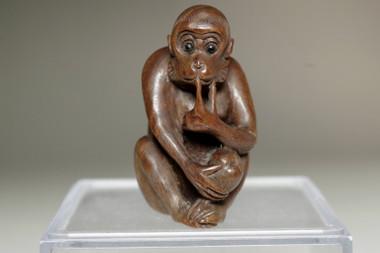 sale: Vintage rosewood miniature carving
