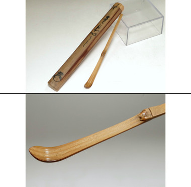 sale: Antique Japanese bamboo tea scoop
