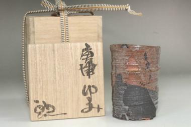 sale: Suzuki Goro (1941- ) Japanese tea cup in karatsu ware