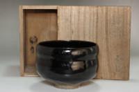 Antique kuro-raku tea bowl #3804
