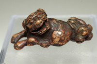 sale: Netsuke - Antique Japanese wooden miniature carving