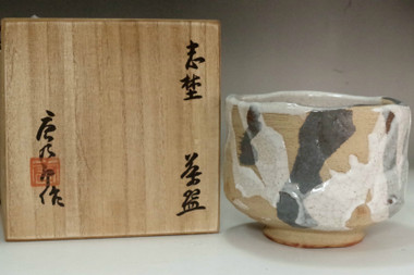 sale: Kato Tokuro (1896-1985) Vintage shino ware tea bowl