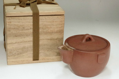 sale: Vintage Chinese Yixing red clay tea pot