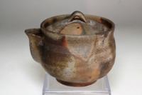 sale: Hohin - Japanese tea pot in bizen ware #3820