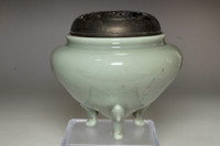 Miyanaga Tozan (1868-1941) Antique celadon incense burner #3872