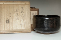 sale: 5th Raku Sonyu (1664-1716) Antique kuro-raku tea bowl