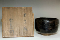sale: 9th Raku Ryonyu (1756-1834) Kuro-raku tea bowl