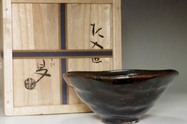sale: 6th Raku Sanyu (1685-1739) Black tea bowl