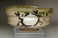 sale: Kitaoji Rosanjin (1883-1959) Vintage Oribe ware tea bowl