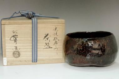 """sale: Sasaki Shoraku (1944- ) Honami Koetsu """"Kamiya"""" style tea bowl"""