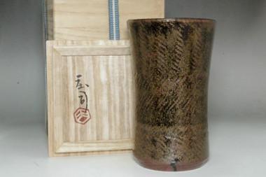 sale: Hamada Shoji (1894-1978) Vintage flower vase