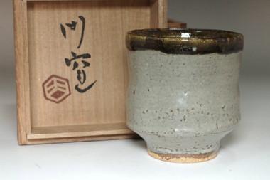 sale: Hamada Shoji Maongama Vintage mashiko ware pottery cup